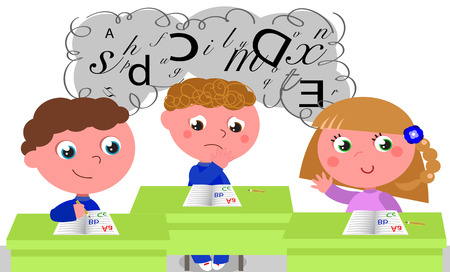 dyslexia: Children with learning difficulties like dyslexia.