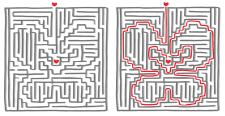 Maze labyrinth game, solution is a butterfly.