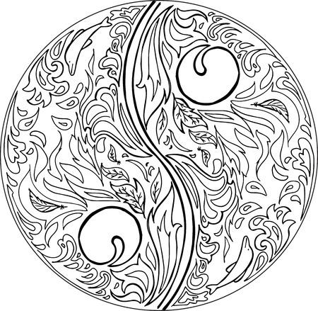 oneness: Coloring TAO mandala vector