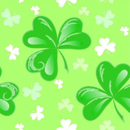 seamless clover: Three Leaf Clover seamless green pattern