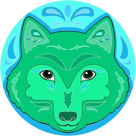 Mandala wolf artwork