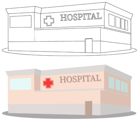 Emergency hospital building isolated vector
