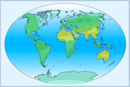Planisphere of the world. Vector illustration.