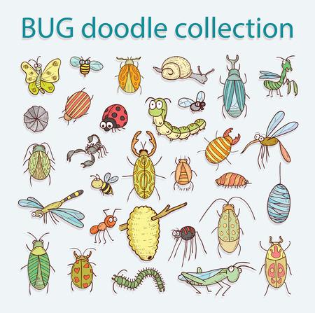 mosca caricatura: insecto de la historieta icono de error ilustración.