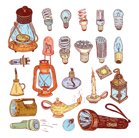 alladin: Fluorescent Light Bulb icon illustration