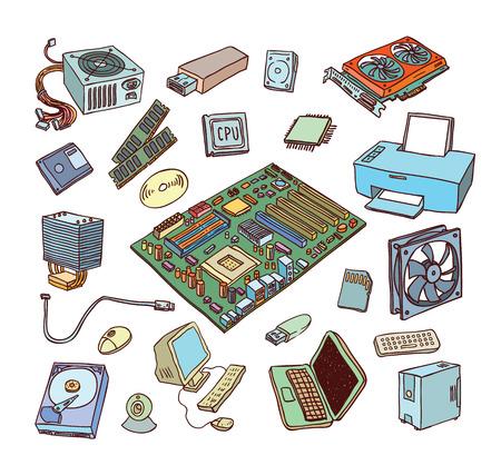 componentes: Los iconos del hardware. Componentes de PC.