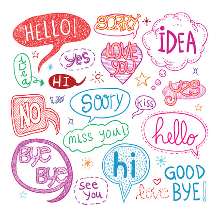speech bubbles, illustration.