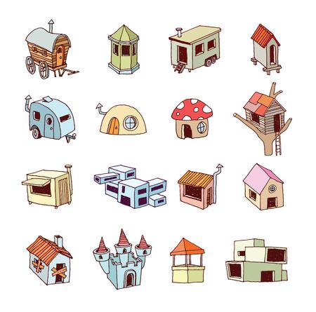 icon illustration: House icon,  illustration.