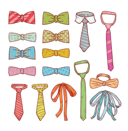 Ties and Bow Ties, illustration.