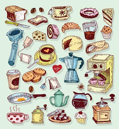 cappuccino cup: Coffee icon set. Vector illustration