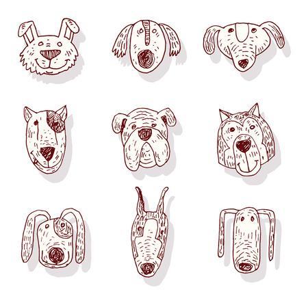 breed: set of Dog breed icons - vector illustration.
