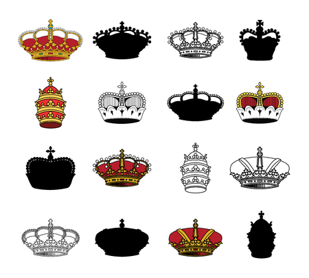 nobleman: crown collection vector illustration.