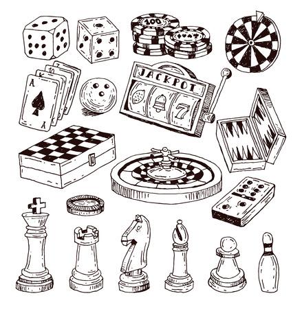 Schachfigur, von Hand gezeichnet Vektor-Illustration. Standard-Bild - 44502622