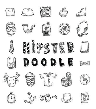 Persone Hipster icon set. illustrazioni vettoriali. Archivio Fotografico - 44502729