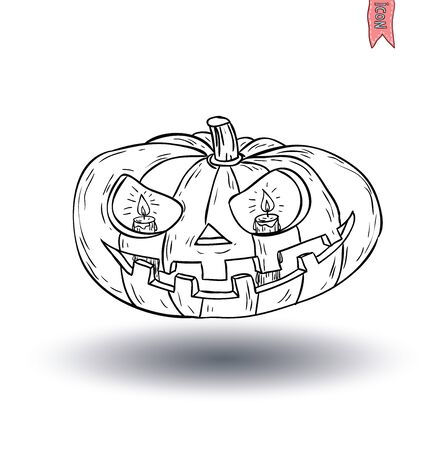 jack o: Jack O Lantern halloween pumpkin. vector illustration