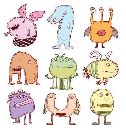 cartoon monster. vector illustration