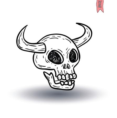 sapiens: skull cartoon icon. vector illustration. Illustration