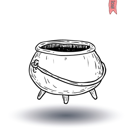 Witches cauldron. vector illustration