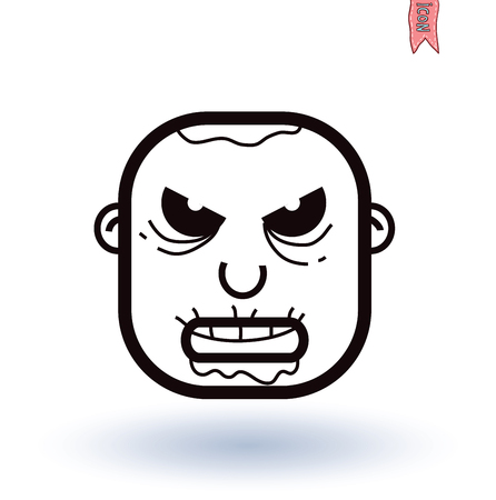 rising dead: zombie cartoon character, vector illustration. Illustration