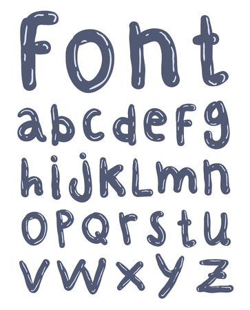 lettres alphabet: Main alphabet dessiné