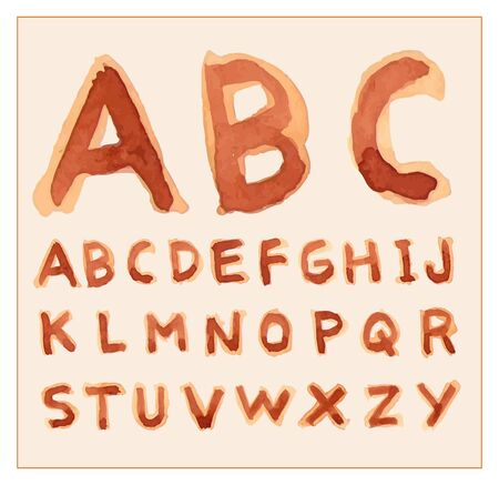 characterset: Hand drawn alphabet