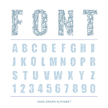 characterset: Hand drawn alphabet. vector Illustration