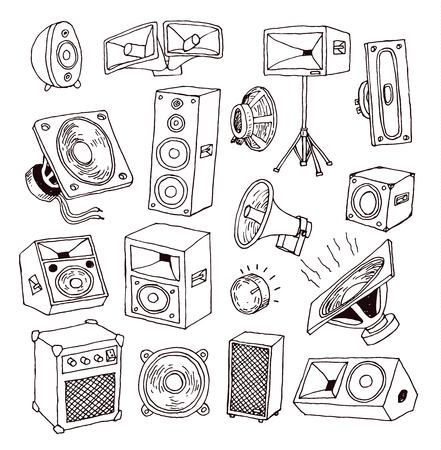 Icône haut-parleur. Illustration vectorielle. Banque d'images - 44689740