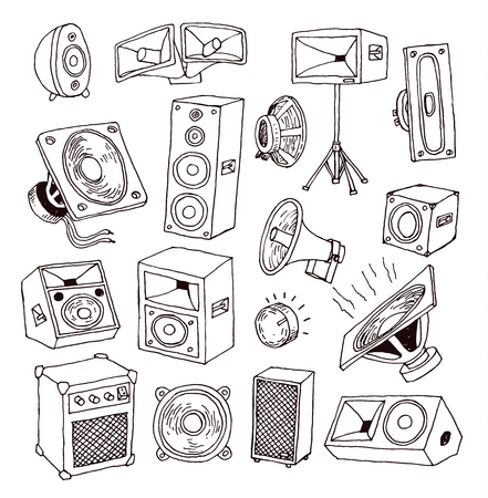 Speaker icon. Vector illustration.