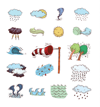 weather  thunder: Weather Icons. vector illustration.