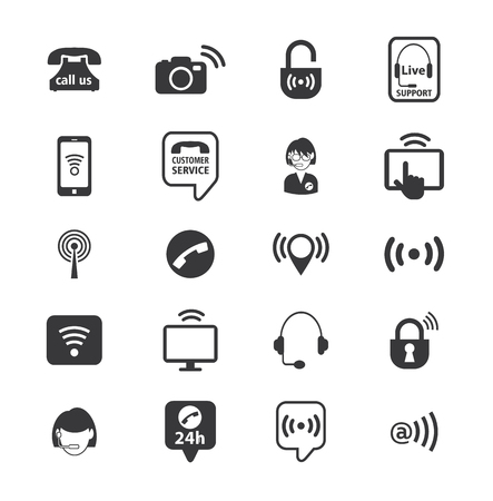 wireless connection: Set of wireless icons, vector illustration Illustration