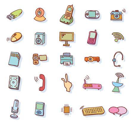 multimedia icons: Web multimedia icons set