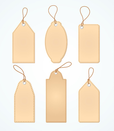 Set of Blank tags. Vector illustration.