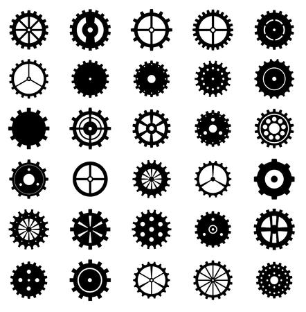 Set of gear wheels, vector illustration. Illustration