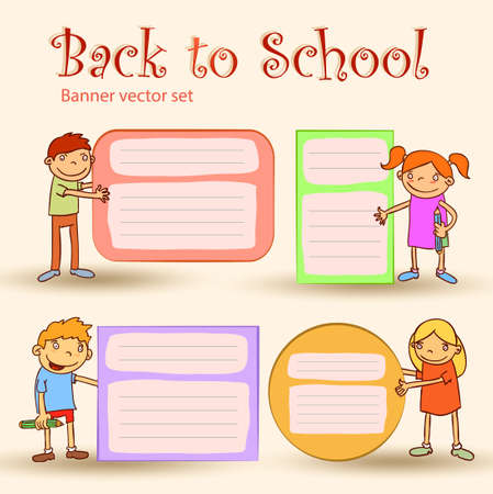 bookmarks: Back to school, Banners and Bookmarks, vector illustration.