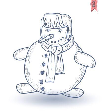 snowman vector: snowman. vector illustration. Illustration