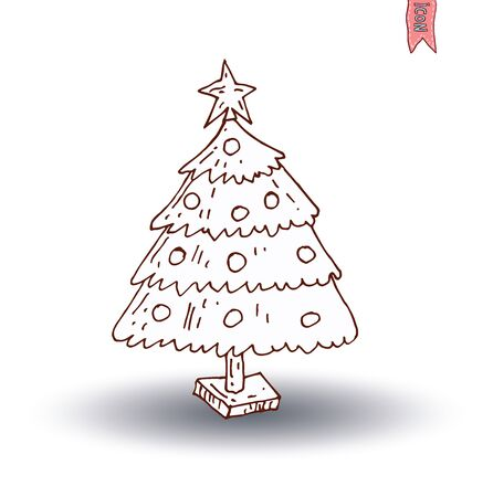 christmas tree illustration: christmas tree. vector illustration.