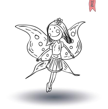cheerfully: fairie, angel. vector illustration. Illustration