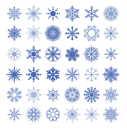 Snowflake collection. vector illustration.