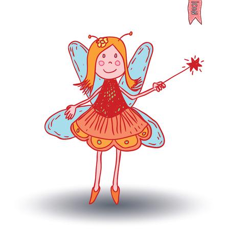 fairie, angel. vector illustration. Illustration