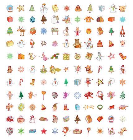christmas element: Doodle Christmas element. vector illustration.