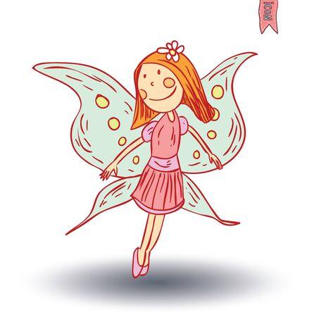 angel: fairie, angel. vector illustration. Illustration