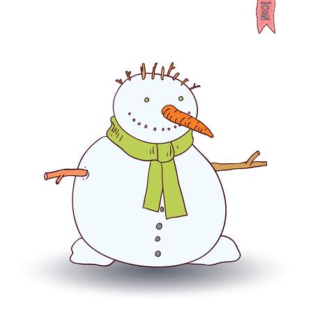 snowman. vector illustration. Illustration
