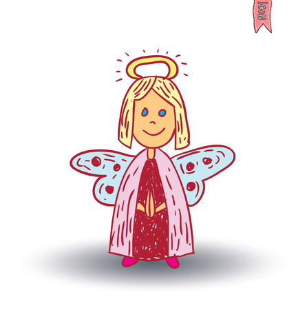 completed: fairie, angel. vector illustration. Illustration