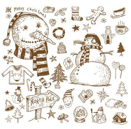 vector element: Doodle Christmas element. vector illustration.