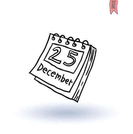 december: Paper december calender, vector illustration Illustration
