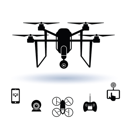photography icons: Drone icon set, Vector.