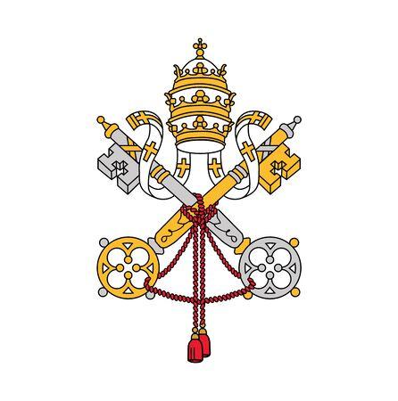 symbol of Vatican city, vector illustration