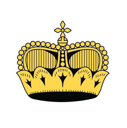 liechtenstein: symbol of Liechtenstein, vector illustration Illustration