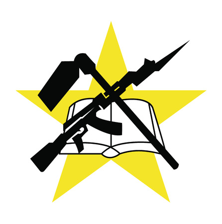 localization: symbol flag of Mozambique, vector illustration