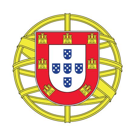 Stemma di Portogallo, illustrazione vettoriale Archivio Fotografico - 44854025